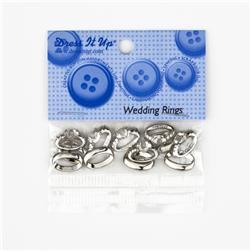 Dress It Up Embellishment Buttons 3-Dimensional Wedding Rings