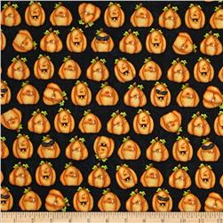 Toil & Trouble Pumpkins Allover Black