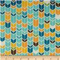 Riley Blake Fun & Games Chevron Aqua