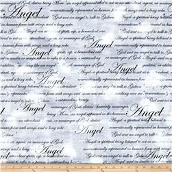 Kanvas Heaven Sent Angel Script Gray