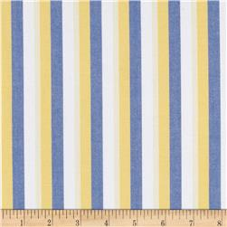 Kaufman Classic Threads Large Stripe Regatta