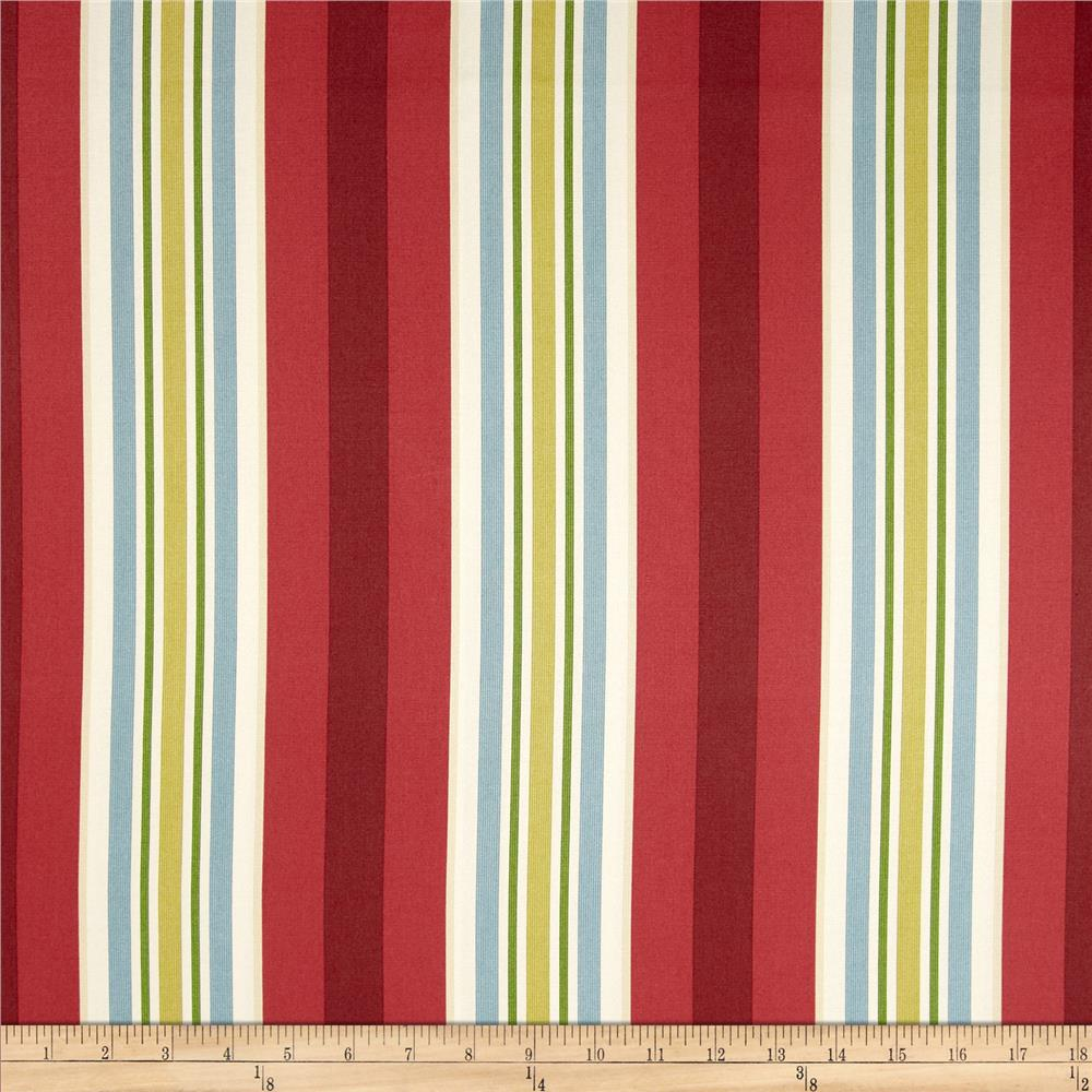 Waverly High Tea Stripe Twill Currant