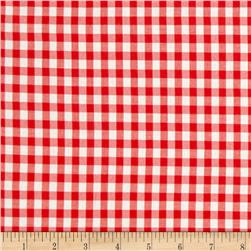 "Cotton Blend 1/4"" Gingham Shirting Red"