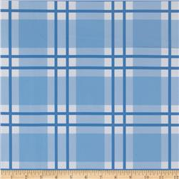 Livingston Vinyl Plaid Blue