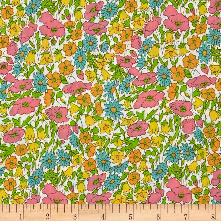 Liberty Of London Tana Lawn Poppy and Daisy Ivory/Multi