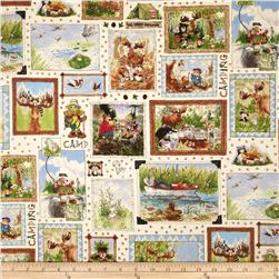Suzy's Zoo Great Outdoors Scenic Patchwork White