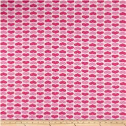 Polar Fleece Hearts Pink