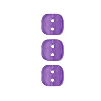Fashion Button 3/8'' Wedge Cut Purple