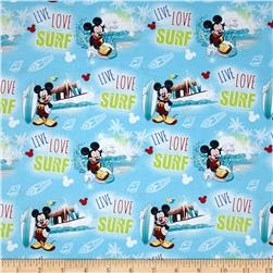 Disney Mickey Mouse, Live, Love, Surf Blue