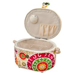 Sewing Basket Oval White