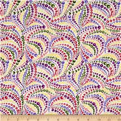 Irresistible Iris Dotted Swirls Pink/Green