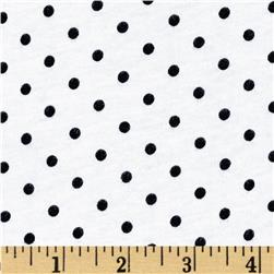 Cotton Jersey Tiny Polka Dots Black/White