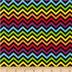 Ups & Downs Chevron Black/Multi Fabric