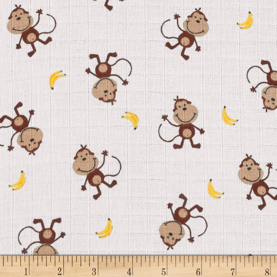 Baby Love Double Gauze Monkeys Brown