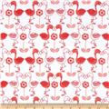 Flannel Flamingo Kisses White