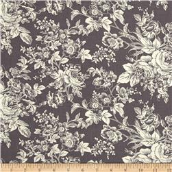 Quartette Collection Large Floral Grey