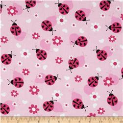 Flannel Lady Bugs Pink