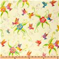Laurel Burch Flying Colors II Humming Bird Cream