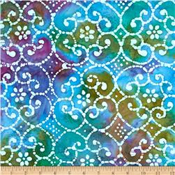 Indian Batik Sarasota Medallion Blue/Purple