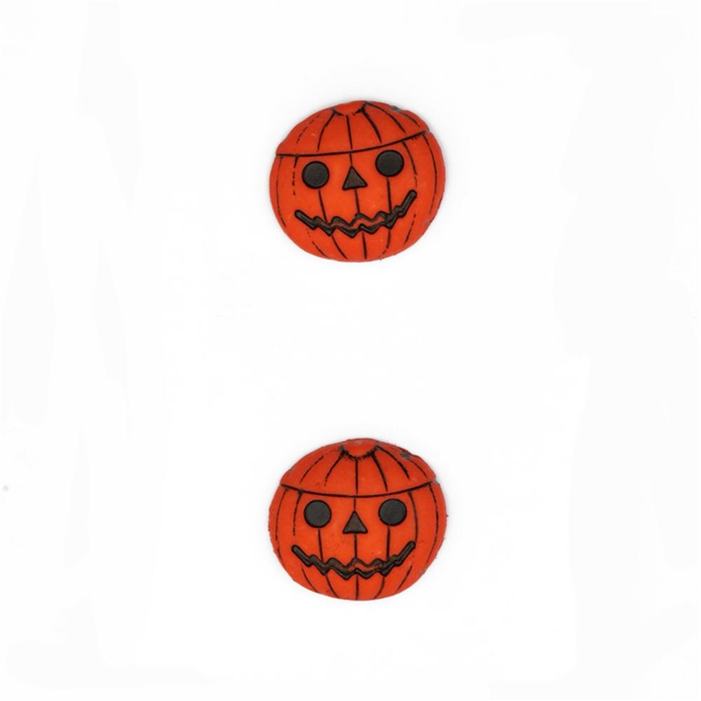 "Novelty Button Jack-O-Lantern  3/4"" Orange"