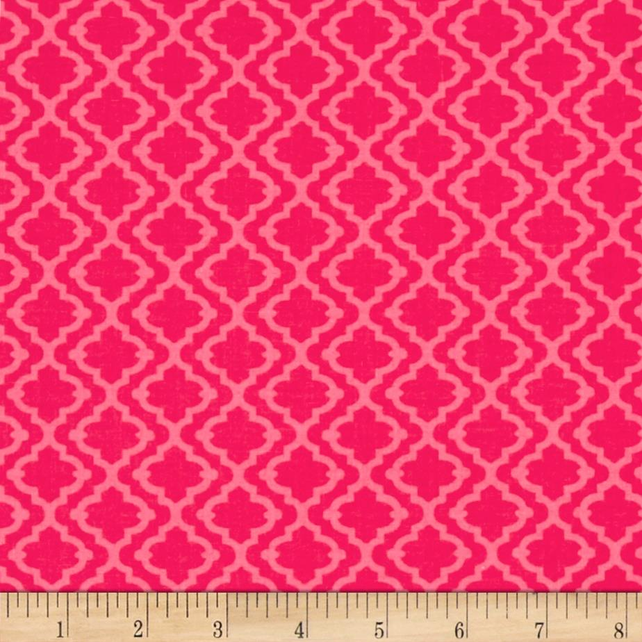 Meet The Royal Court Tiles Pink Fabric By The Yard