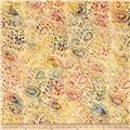 Timeless Treasures Tonga Batik Paisley Tan