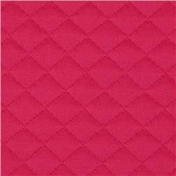 Sweden Quilt Knit Solid Hot Pink