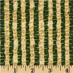 Jolly Old St. Nick Metallic Stripe Green
