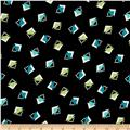 Crepe De Chine Art Deco Triangle Black