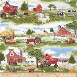 Down On The Farm Farmyard Scenic Multi