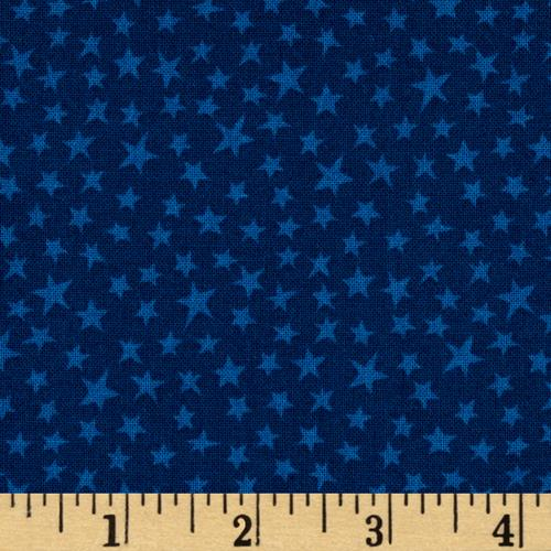 Not So Wild West Stars Dark Blue