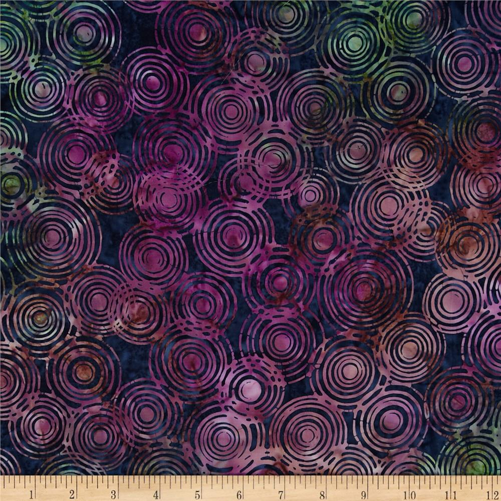 Timeless Treasures Tonga Batik Tree Rings Velvet