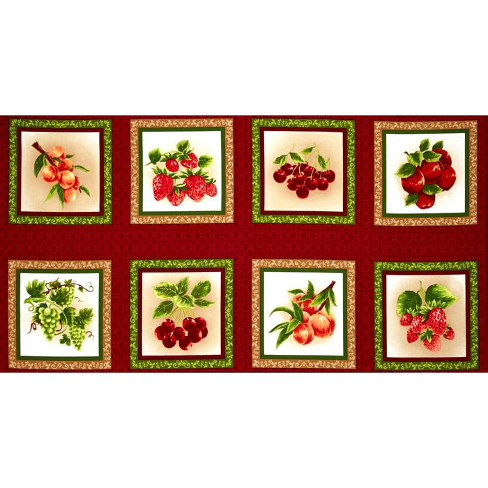 Fresh Harvest 24''. Panel Fabric By The Yard