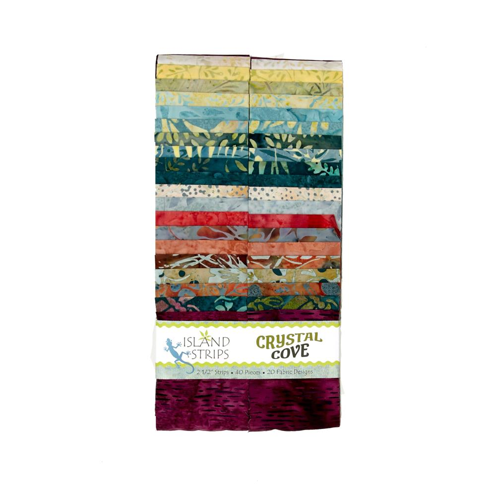 "Crystal Cove 2.5"" Batik Strip Pack"