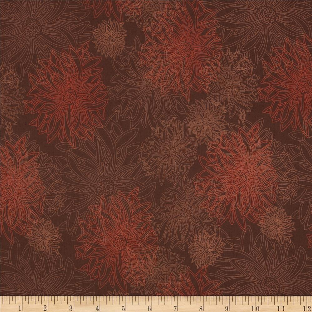 Art Gallery Elements Floral Spicy Brown
