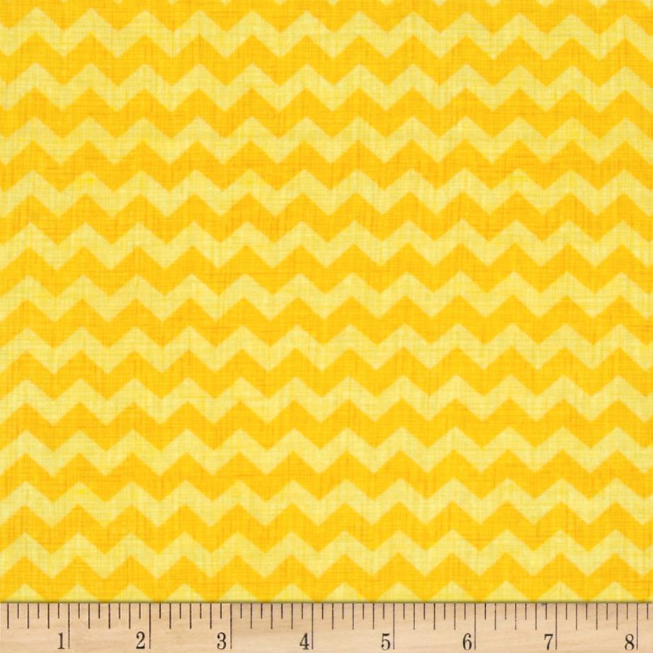 Timeless Treasures Ziggy Small Chevron Yellow