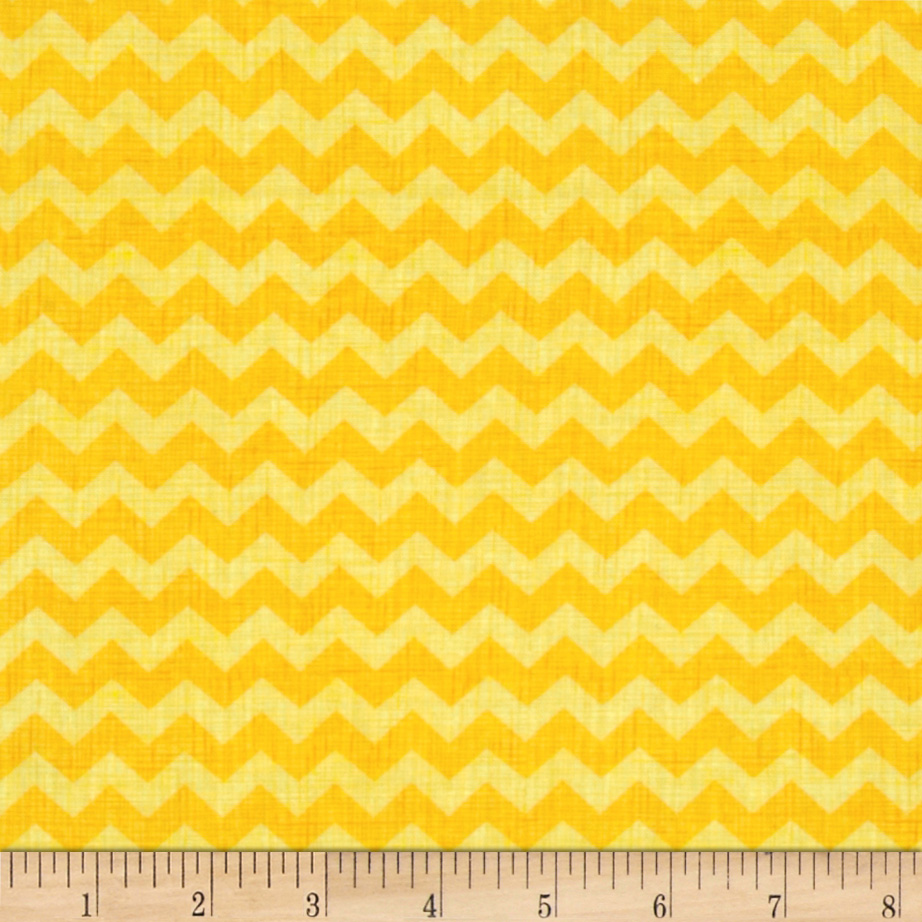 Timeless Treasures Ziggy Small Chevron Yellow Fabric