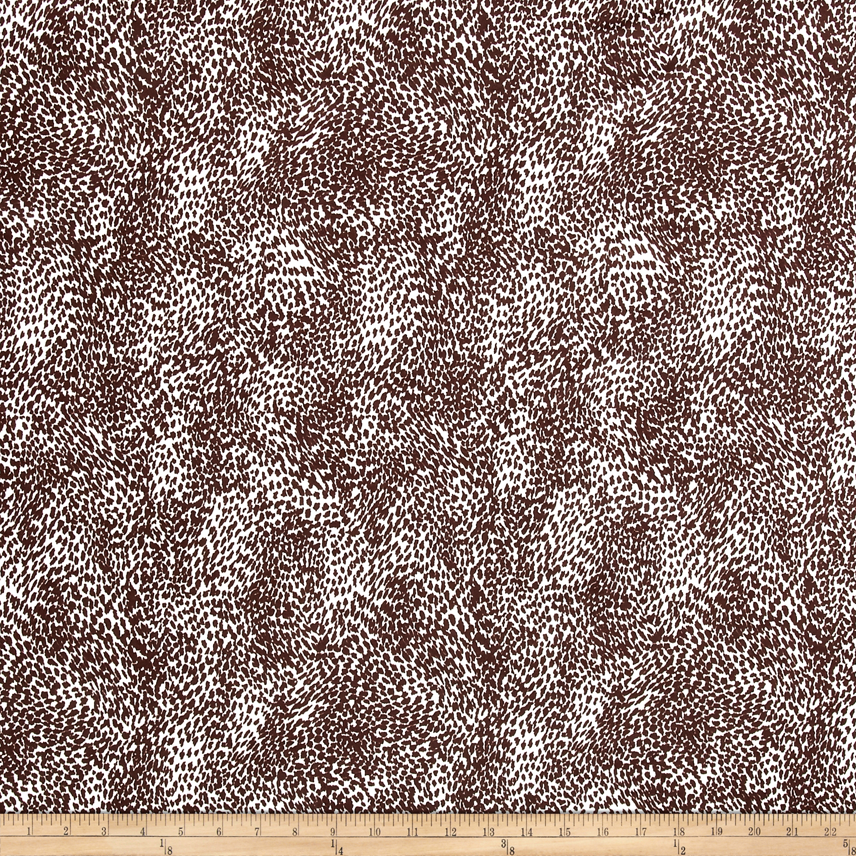 Poly Spandex ITY Knit Cheetah Brown/White Fabric by Bellagio in USA