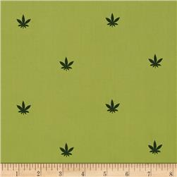 Pimatex Mini Print Hemp Leaf Green