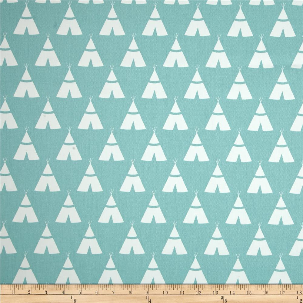 Premier Prints Twill Tee Pee Canal Fabric By The Yard