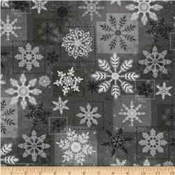 Holiday Magic Large Snowflakes Grey