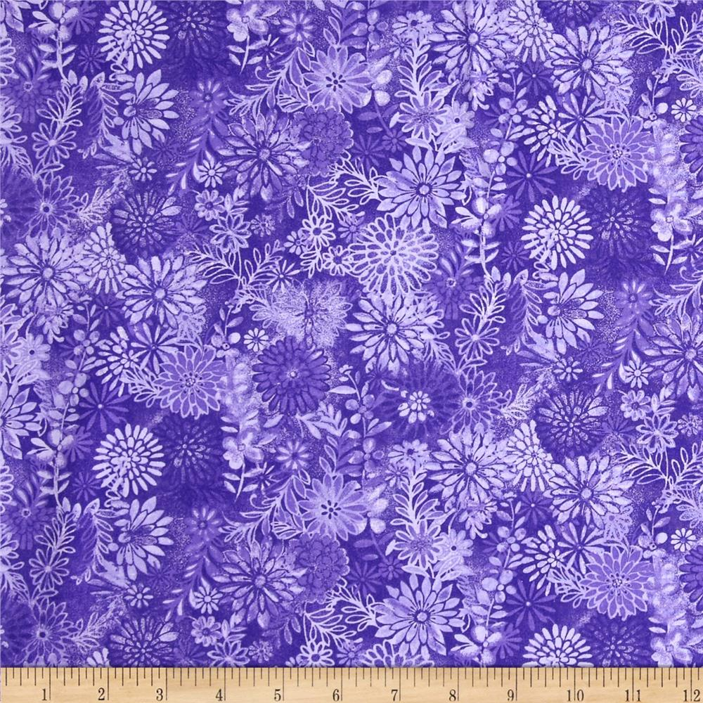 Packed Floral Tonal Purple