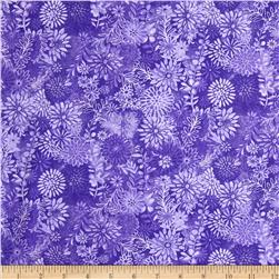 Packed Floral Tonal Purple Fabric