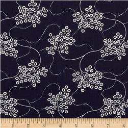 Nancy Gere Low Country Indigo Flowing Floral Navy