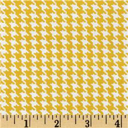 Spotlight Houndstooth Golden Yellow/White