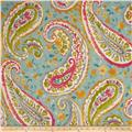 P Kaufmann Watercolors Paisley Twill  Turquoise