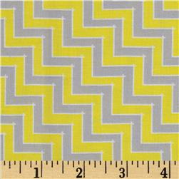Sweet Harmony Chevron Grey/Yellow Fabric