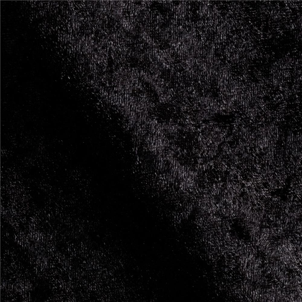 Stretch Panne Velvet Velour Black - Discount Designer Fabric - Fabric ...