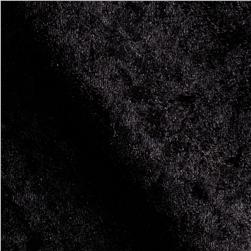 Stretch Panne Velvet Velour Black