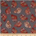 Night Owls Small Allover Owls Grey